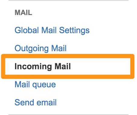 selectIncoming Mail