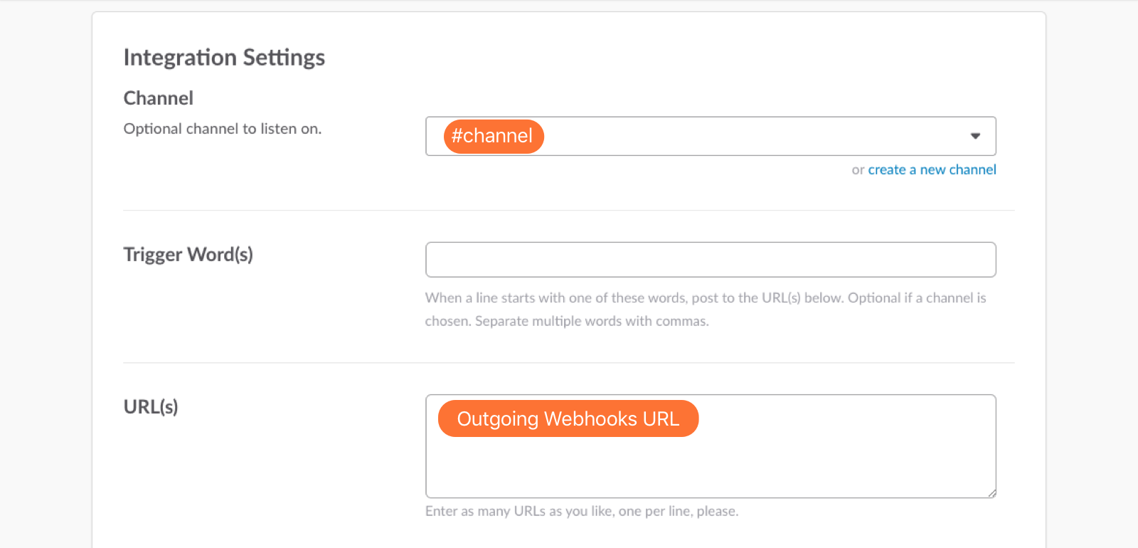paste the URL you copied from the Outgoing Webhooks URL section in VictorOps