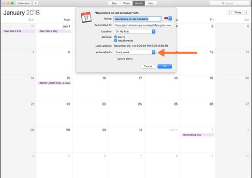 Calendar Export | VictorOps