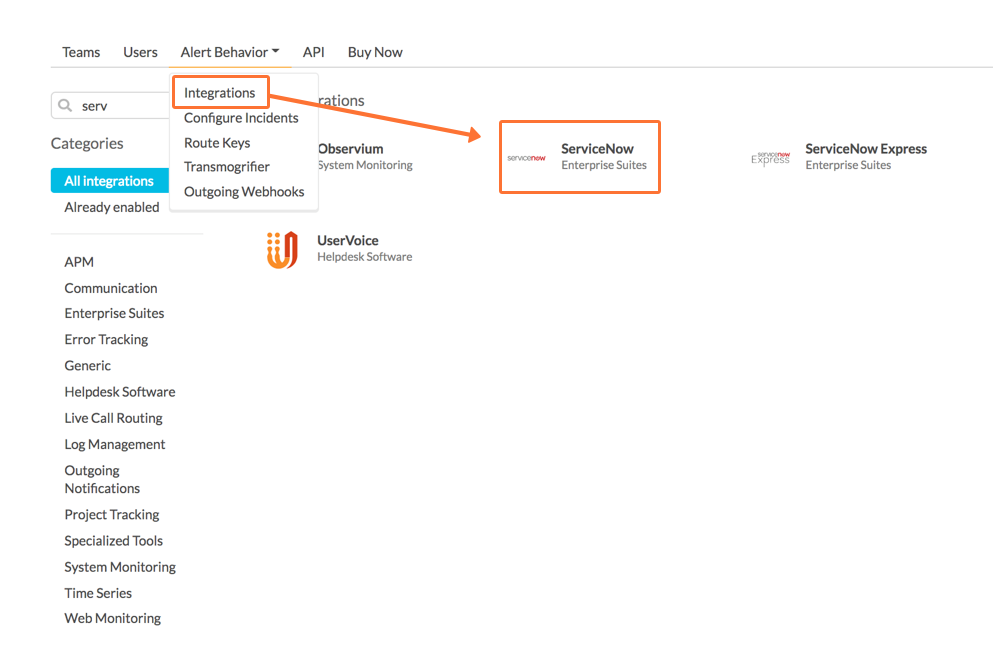 collect your organization ID and Service APIkey from integrations pages