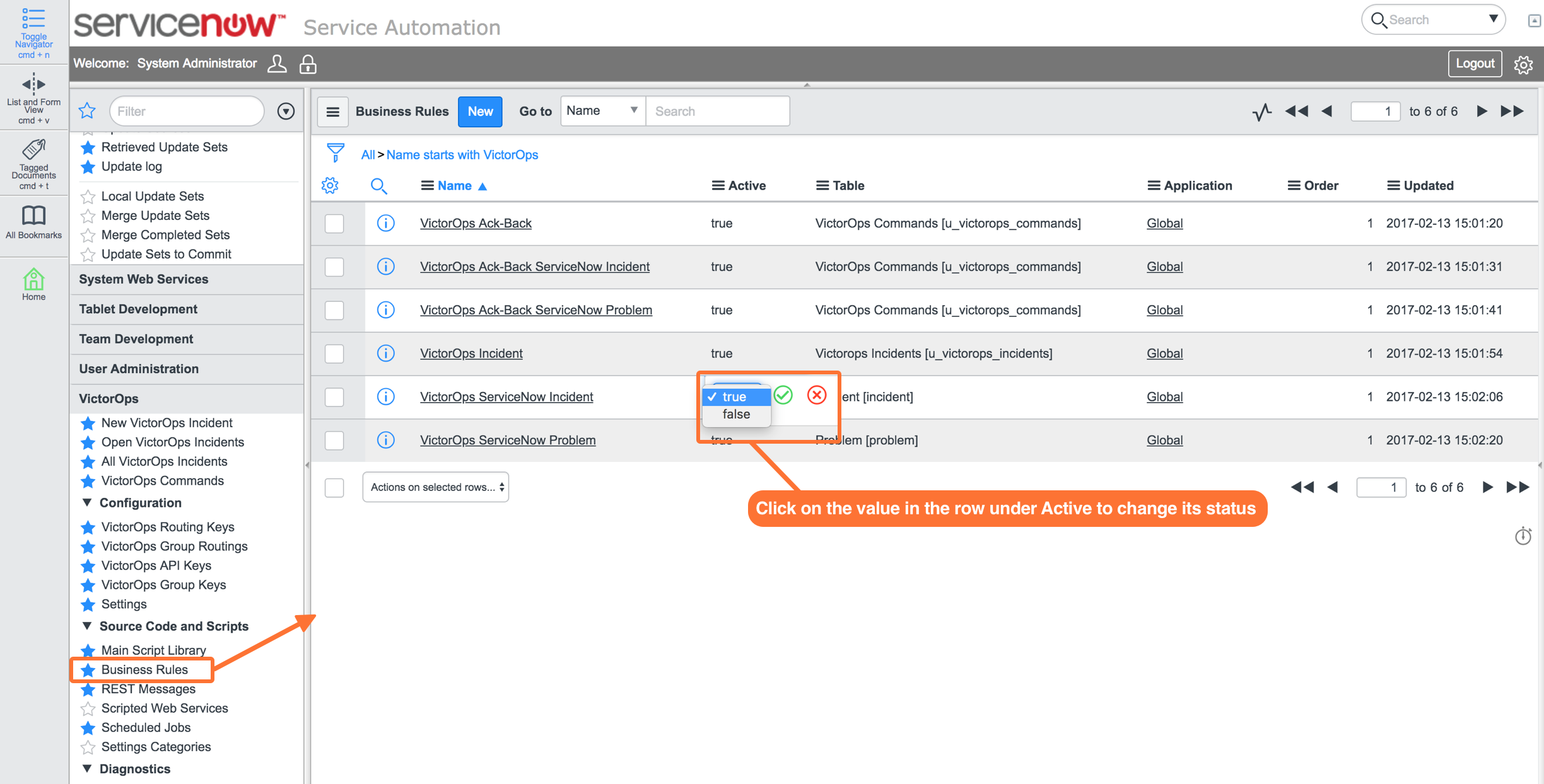 ServiceNow Integration Guide | VictorOps Knowledge Base