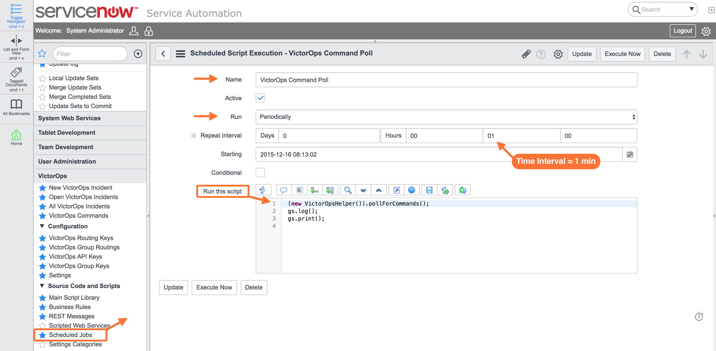 Enable Ack Back in ServiceNow