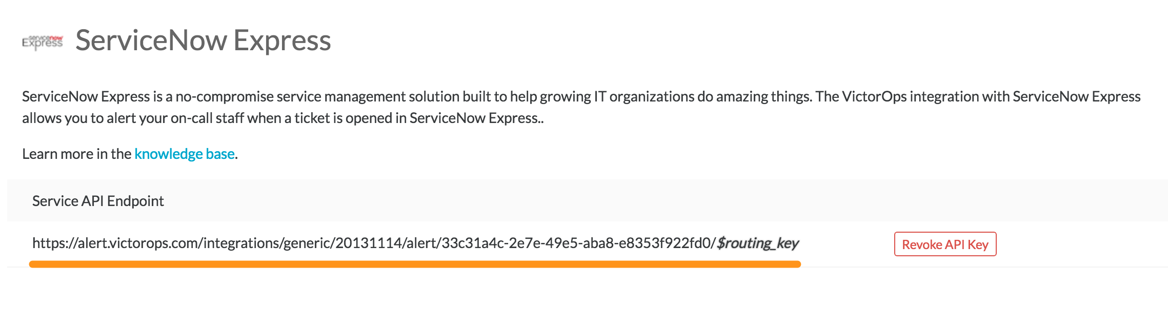 copy ServiceNow Express URL to clipboard