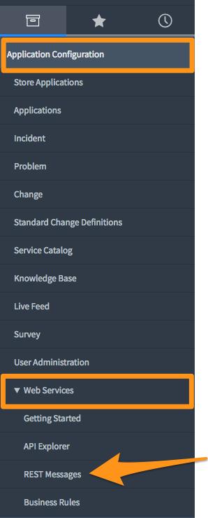 selectWeb ServicesthenREST Messages