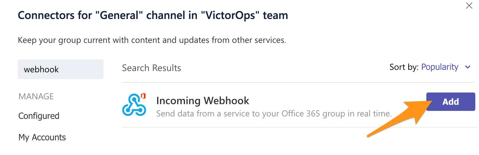 Microsoft Teams Integration Guide | VictorOps Knowledge Base