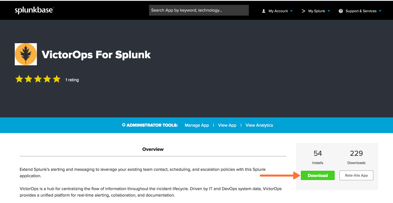 VictorOps in Splunk base