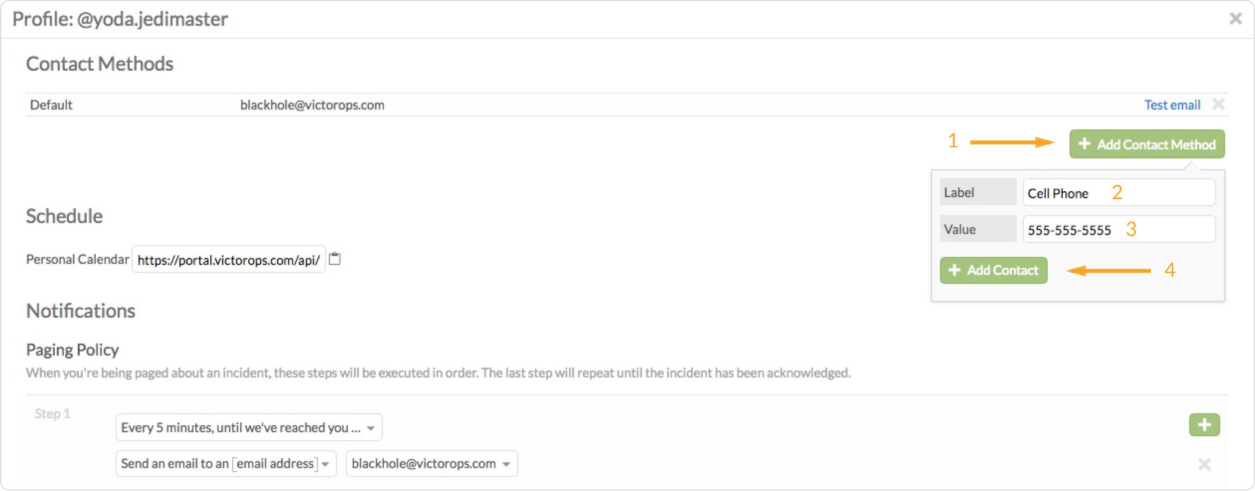 Enter additional user email addresses- new user VictorOps