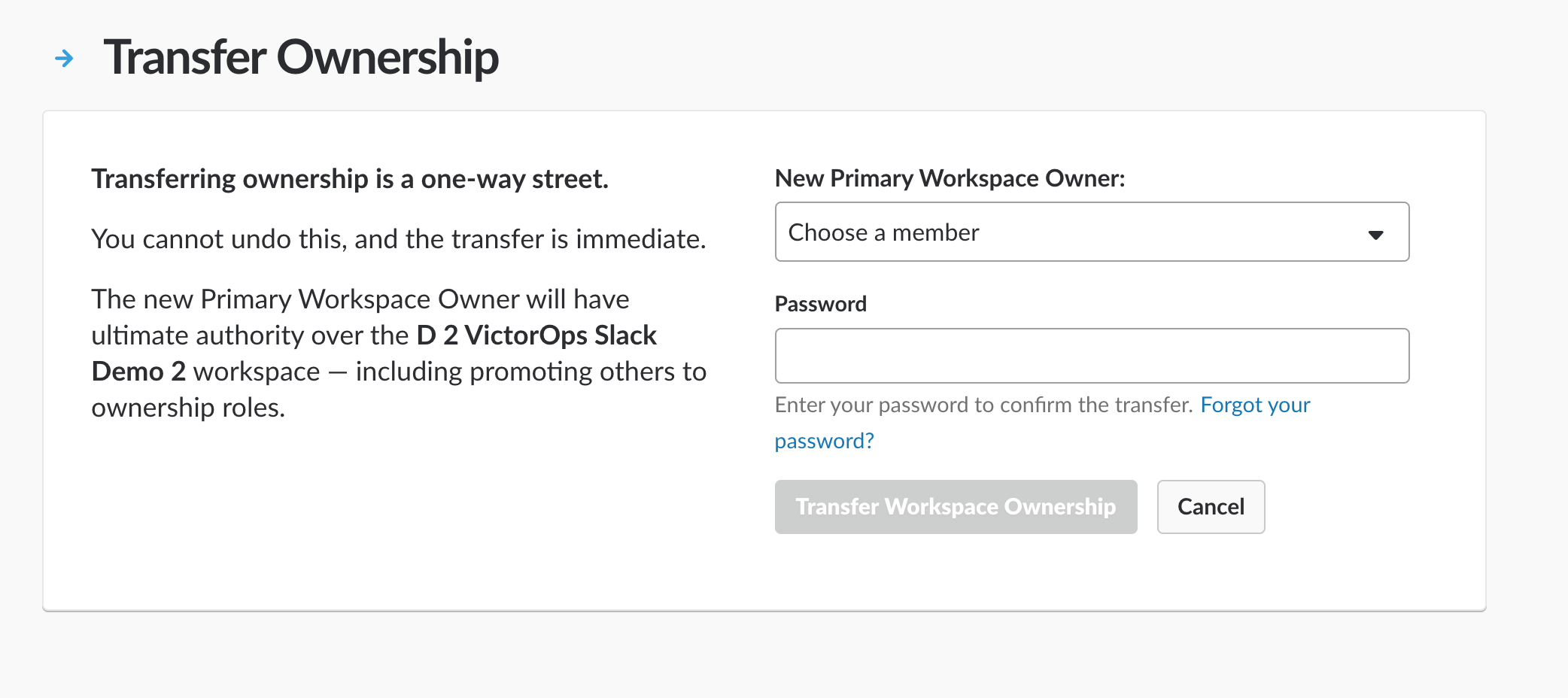 VictorOps Transfer Ownership module