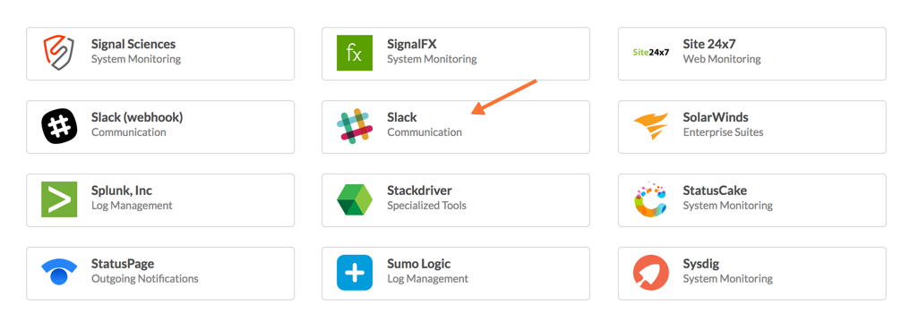 VictorOps - Finding Slack on Integrations Module