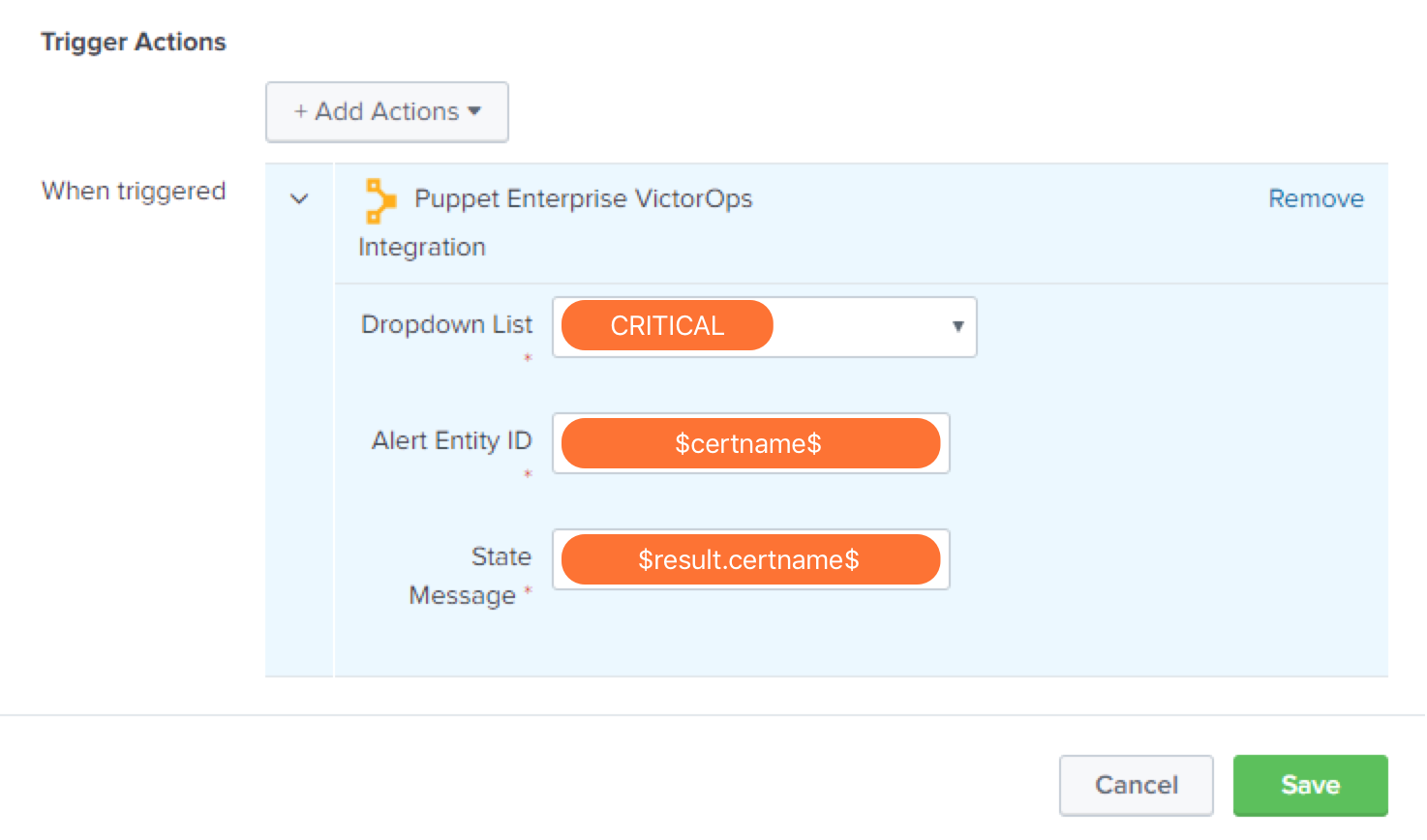 create an incident victorops puppet enterprise variable configuration