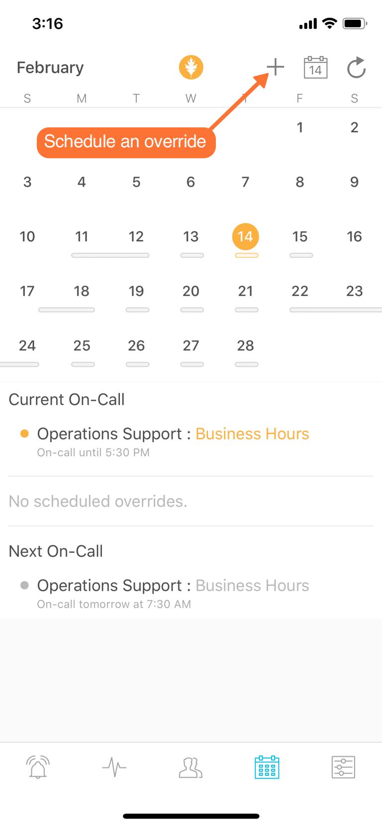Mobile App - My Schedule & Scheduled Overrides | VictorOps