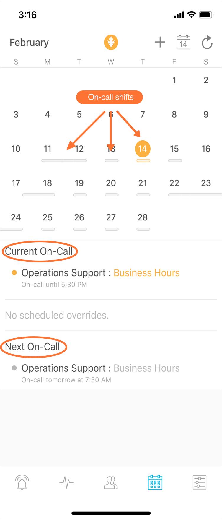 Mobile App - My Schedule & Scheduled Overrides   VictorOps