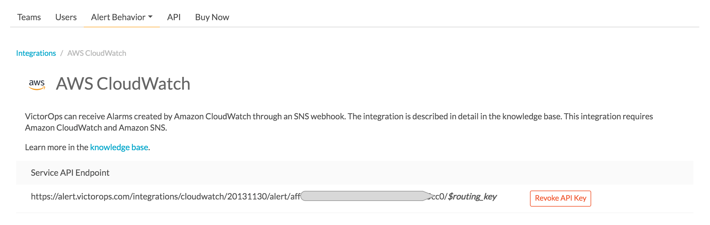 AWS Cloudwatch Integration Guide | VictorOps Knowledge Base